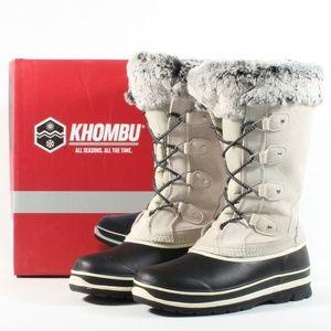 Khombu Women's Leather Winter Snow Duck Boots
